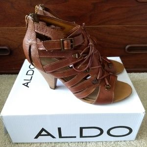ALDO Melander Brown Sandals Heels Womens 9